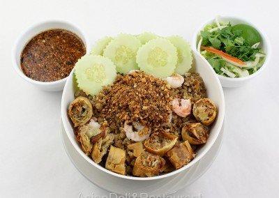 Vietnamese Noodle Egg Roll Salad